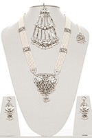 VINTAGE Silver Style Set NSWP03422 Indian Jewellery