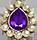 Kundan Jem - Purple